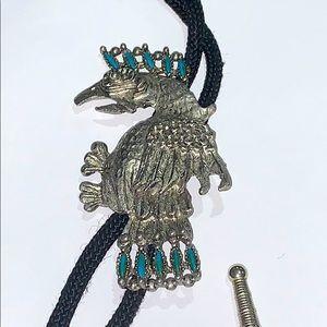 Jewelry - Navajo Vintage Eagle Bolo Tie